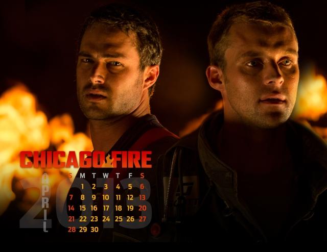Chicago Fire April Calendar